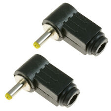 2 x 1.1mm x 3mm DC Right Angle 90 Degree Male Power Plug Jack Connector Laptop