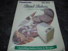 PANASONIC  SD 253 SD 200, 257   USER  MANUAL,Not the breadmaker .