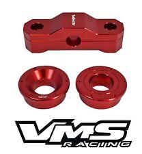 VMS RACING 2PC BILLET F+R SOLID SHIFTER BUSHINGS 99-00 HONDA CIVIC SI B16 RED