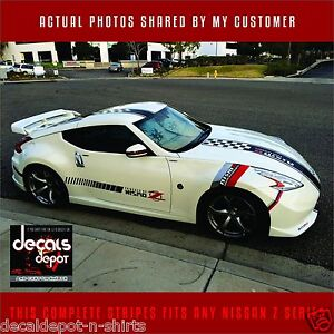 Fits NISSAN 350Z 370Z  Hood, Roof and Rear  2000-2020 Whole Body Kit Stripes