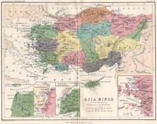 'Asia Minor'. Ancient Turkey. Sigeum Chrysopolis Troas Ionia. JOHNSTON 1855 map