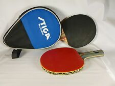 Stiga Supreme Pro Table Tennis Paddle & Zippered Travel Case, Extra Halex Paddle