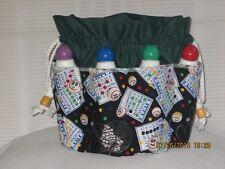 Bingo Bag   GREEN    top  8 pockets