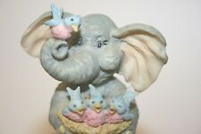 Roman Forget Me Knots Figurine - Elephant - There's Always Room for One More