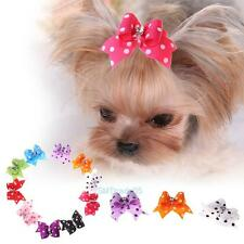 10pcs Pet Bow Tie Dog Puppy Cat Supply Grooming Hair Clip Hairpin Ribbon Bowknot