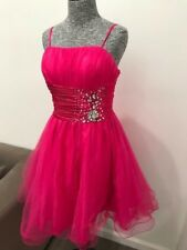 Aspeed USA Short Formal Dress Homecoming Quinceanera Size M Hand Beaded Pink