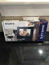 "Sony S Frame DPF D710 Digital Photo Frame Black 7"" LED Backlight NIB"