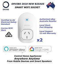 2x ORVIBO B25AUS Smart WiFi Socket Remote Control Via Mobile/alexa/google Home