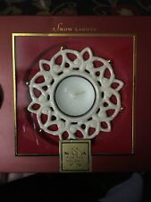 """Sparkle Votive Lenox Snow Lights For The Holidays 4"""" Tealight Candle Holder New"""