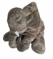 "Elephant Plush 10"" Gray Sitting Comforter Floppy Stuffed Toy Age 3 Plus"