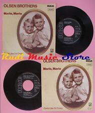LP 45 7'' OLSEN BROTHERS Marie marie Feels like i'm crazy 1982 germany cd mc dvd