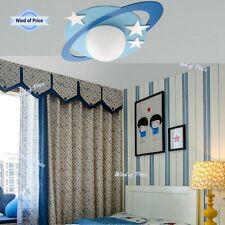 Ceiling Lighting Wood Stars Decor Design Children's Kids Room Blue Glass MDF
