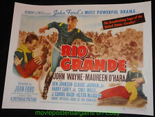 RIO GRANDE MOVIE POSTER Restored Condition Half Sheet 22x28 Inch JOHN WAYNE 1950