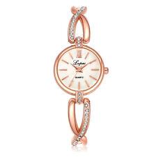 Fashion Ladies Women Girl Gold Sliver Crystal Stainless Steel Quartz Wrist Watch