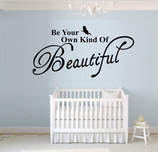 Be your own kind of Beautiful Wall Quotes Bedroom Wall Stickers UK 231