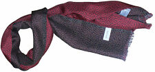 PAUL SMITH LIGHTWEIGHT DOUBLE LAYERED SILK / WOOL SCARF BNWT made in Italy
