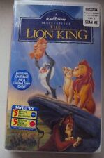 The Lion King (VHS, 1995) **BRAND NEW** Factory Sealed Walt Disney Masterpiece