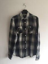 Stüssy big mac carreaux coton-chemise en flanelle taille m rrp £ 80