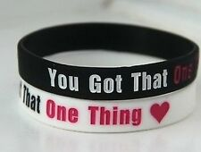 ONE DIRECTION 1D You got that one thing' black wristband bracelet *SAME DAY POST