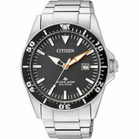 Citizen Eco-Drive Men's Black Dial Calendar Window 44mm Watch BN0100-85E