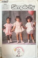 Simplicity Pattern 6867 Sizes 0-3 Girls Frilled Gathered Top & Bloomers UNCUT