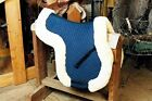 Sheepskin All-Purpose Numnah Saddle Pad Lined W/Full Rolled Edge 3 Colors