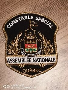 Rare uniform take-off Quebec National Assembly Constable Special Canada patch!