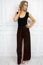 Jeans da donna gamba larga alti neri