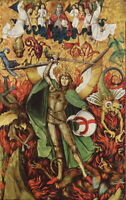 "oil painting on canvas ""archangel michael in battle with lucifer  ""@N10514"