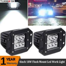 Flush Mount Spot 18W LED Pod Fog Lights For Jeep Truck Pickup Off-Road ATV 4WD