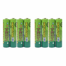 8 pcs 900mWh 1.6V Volt AAA 3A NiZn Rechargeable Battery High Voltage PowerGenix