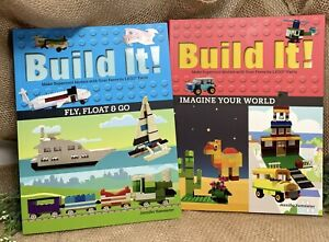 Build It! Fly, Float & Go AND Imagine Your World Instruction Books for Lego x 2
