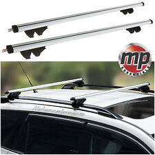 Streetwize Universal 135cm Lockable Aluminium Roof Rack Bars for Cars with Rails