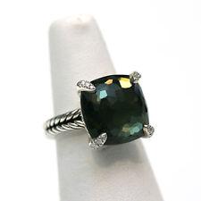 DAVID YURMAN New 14mm Chatelaine Ring Lemon Citrine Hematine Diamonds  6.25