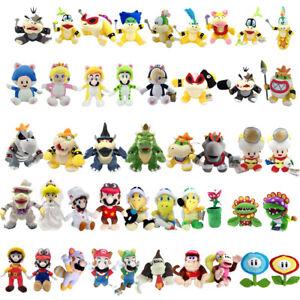 Super Mario Bros Lemmy Bowser Koopa Toad Waluigi Plush Toy Collectible Optional