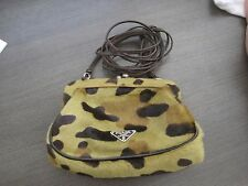 PRE OWNED PRADA MINI PURSE IN LEOPARD MOHAIR PRINT