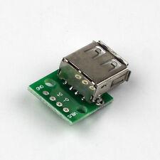 USB 2.0 DIP 4pin Female 2.54mm Connetor Power Adapter Board