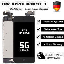 Display für iPhone 5 mit RETINA LCD Glas VORMONTIERT Komplett Front SCHWARZ -NEU