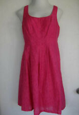 Nine West 10 fushia pink party dress-euc-pockets holiday