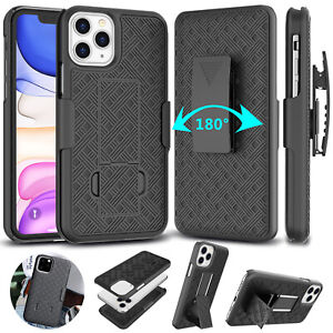 For iPhone 11,Pro,XS Max,XR,X Case with Kickstand Belt Clip Holster Combo Cover