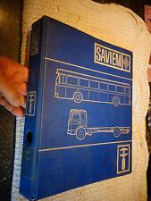 Ancien Classeur de Fiches Technique des Camions Autocars Autobus SAVIEM