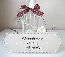 ♥ Cadeau de Noël Maison ~ personnalisé nom de famille SIGNE ~ handcrafted shabby chic
