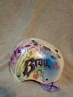 Bratz Bicycle Helmet Girls Small Purple White Protective Head Gear Straps