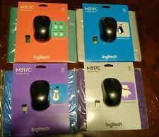 New Logitech M317c Wireless Mouse Black  with Bonus mouse Pad