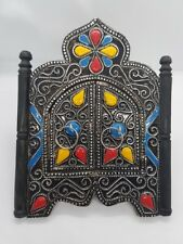 """Moroccan Wall MIRROR w/Doors Colorful Handmade Home Decor Decoration Gift 9x7.2"""""""