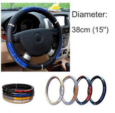 38cm 15 ''Car Truck PU Leather Steering Wheel Cover Reflective Anti Slip Design