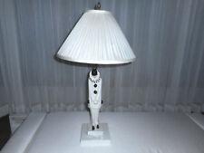 Schwarzburger Werkstatten Art Deco Porcelain Clown Pierrot Lamp Roland Paris