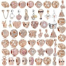 925 Sterling Silber Silver Neue PAN ROSE Charms Fit Passend Charm Armband