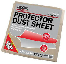 ProDec Advance Protector Dust Sheet Cover 12' x 12' Foot / 3.6 x 3.6m (CRPR1212)