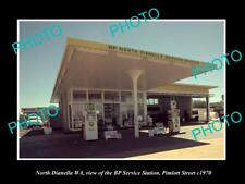 OLD LARGE HISTORIC PHOTO OF NORTH DIANELLA WA, THE BP OIL SERVICE STATION c1970